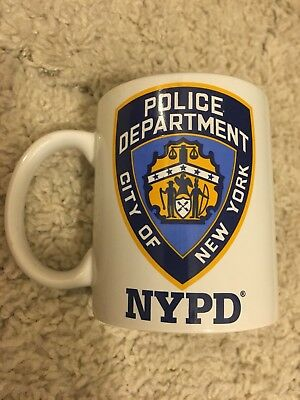 """Vintage City Of New York Police Department """"nypd"""" Coffee Mug"""