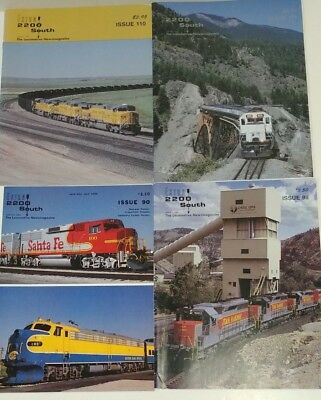 Extra 2200 South Locomotive News Magazines  4 Issues: 90, 98, 110, &111