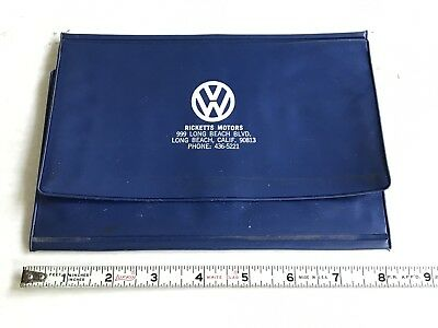 Vintage Ricketts Motors Volkswagen Dealer  Manual Holder / Sleeve   Original