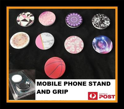Universal Pop Up Phone Holder Expanding Stand Hand Grip Mount 4  iPhone Samsung