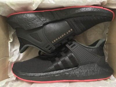 detailed look 4f70f 018d2 ADIDAS EQT SUPPORT 9317 Boost Black Red Carpet CQ2394 SIZE 9.5