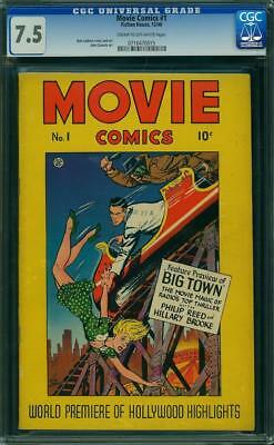 Movie Comics #1 CGC 7.5 Fiction House 1946 Rare Golden Age! H5 715 cm