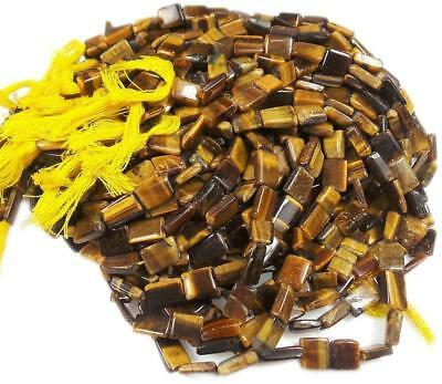 """7mm-12mm/14"""" Natural Tiger Eye Untreated Drilled Loose Beads Jewelry Making"""