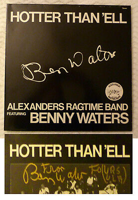 SIGNIERT OrigAutogr Ben Waters/Alexanders Ragtime Band LP HOTTER THAN ´ELL 1983