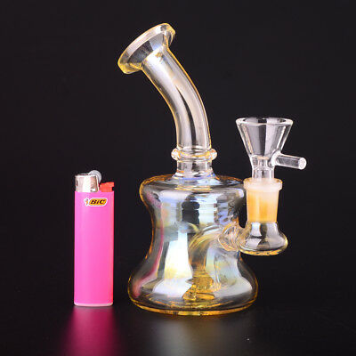 Big Tyre Perc Glass Bong Water Pipe with 14.5mm joint  bowl bongs silver fuming
