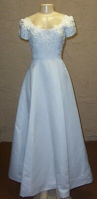 "White Tailored Wedding Gown Dress Mon Cheri 24"" Waist Size 2"