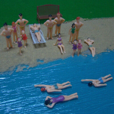 20 X Painted Swimming Figures Scale 1:50 Fit For Model Train Layout Beach People