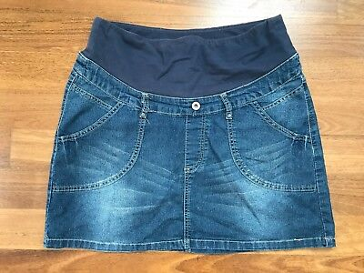 GUC! Patch Maternity Blue Denim Skirt Size S (10-12)