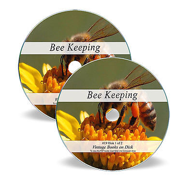 Learn Bee Keeping Apiary 470 Rare Vintage Books on DVD - Rear Hive Honey Veil E9