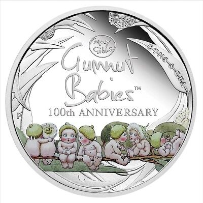 2016 100th Anniversary of Gumnut Babies 1oz proof silver coin & book Perth Mint