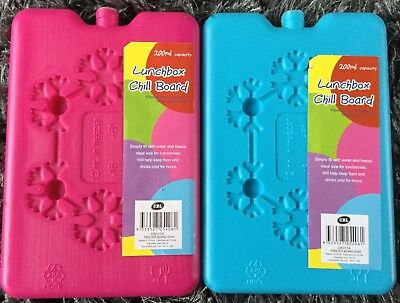 SMALL ICE BLOCK/BOARD FREEZER PACKS Travel Cooler/Chill Bag/Lunch Box