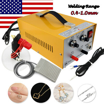 Handheld Electric Pulse Spot Welder Jewelry Welding Machine 0.4-1mm 30A【USA  CA】