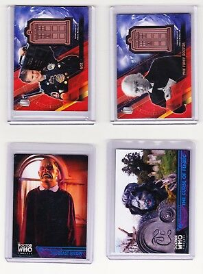 2016 Topps Timeless Doctor Who Numbered and Relic Four Card Lot