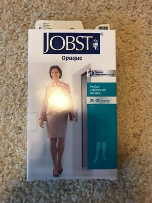 jobst compression stockings 20-30 medium NIB Natural Knee OT