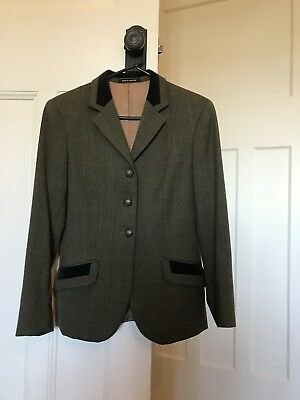 Ladies pure wool tweed show hunter jacket made in England by Pytchley
