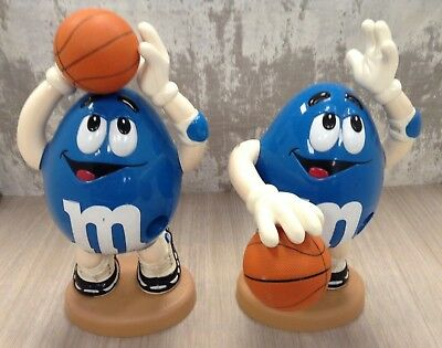 2x M&M's Candy Dispensers - Sport Series: Blue M&M Basketball Player