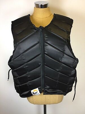 Horse Golden Ltd Equestrian Body Protector Gear Adult Size XL in Black
