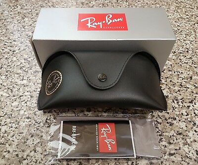 RayBan large black sunglasses case ~ brand new in box