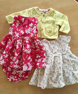 3/6 Months Baby Girl Bundle Ted Baker  Dress , Knickers & Jacket Set+ Next Dress