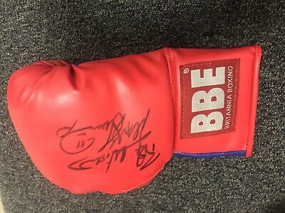 Sport Autograph - Frank Bruno gloves with autograph and certificate