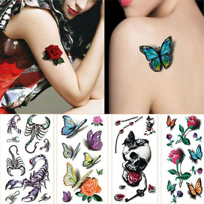 FA80 Decal Fake Body Sticker Tattoo Stickers Beautiful Water Transfer Cool