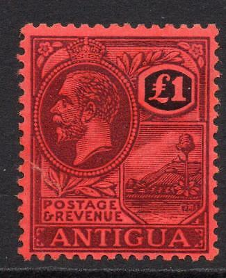 Antigua One Pound Stamp c1921-29 Mounted Mint (tear)