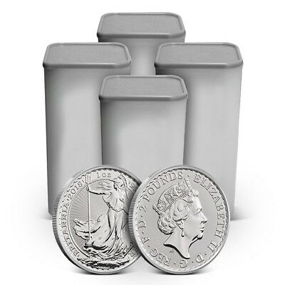 Lot of 100 - 2018 Great Britain UK 1 Oz Silver Britannia Coin - Gem Uncirculated