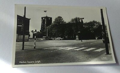 Vintage Postcard from 1965 - Market Square, Leigh. Greater Manchester
