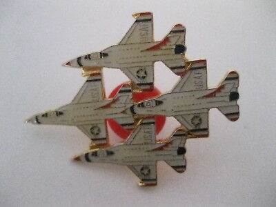 USAF Thunderbirds 4 Jet Hat Pin Free Shipping!