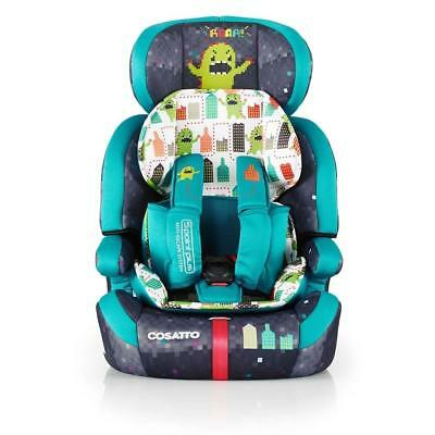 New Cosatto Zoomi group 123 anti escape car seat Monster arcade from 9 to 36kg