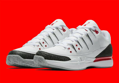 best service f016a 2a80a Nike Zoom Vapor RF X AJ3 New Men s White Tennis Shoes 709998-106 Jordan  Federer