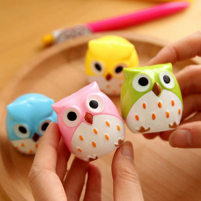 1PC Cute Lovely Owl Pattern Pencil Sharpener School Kid's Favorite Beautiful