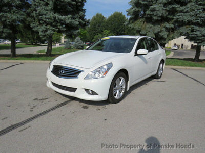 INFINITI G37 Sedan 4dr x AWD 4dr x AWD Low Miles Sedan Automatic Gasoline 3.7L V6 Cyl WHITE
