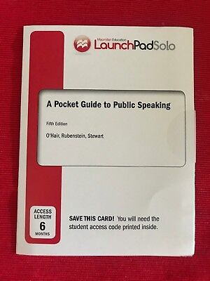 Pocket Guide To Public Speaking 5E Access Code (Six Month Access) Fifth Edition