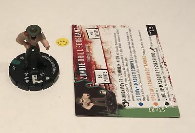 Horrorclix Nightmares Zombie Drill Sergeant #029 with Card NEW from Booster Pack