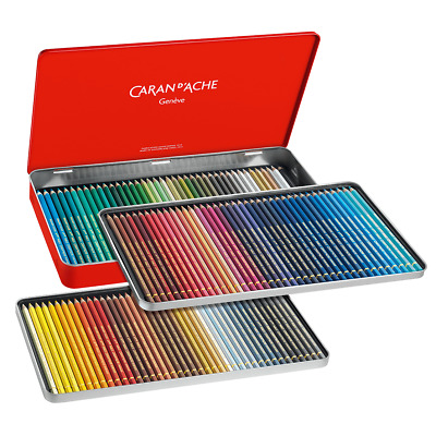 Caran D'Aache Pablo Permanent Colour Pencils Tin of 120 Artist Coloured Pencil