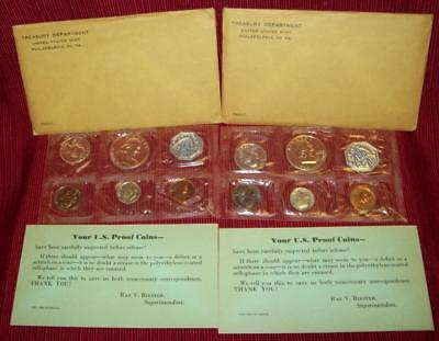1960 P Two Silver Proof Sets 6 Coins Silver .900 Total 10 Coin Mint Org  Pkg