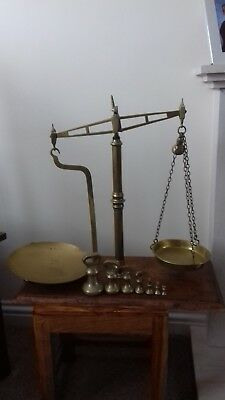 Vintage Day and Millward Brass Balance Beam Scales