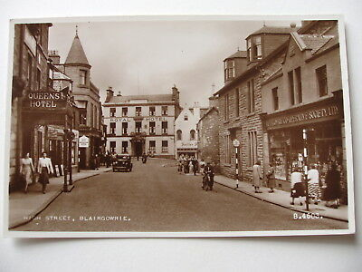 High Street, Blairgowrie - vintage sepia real photograph