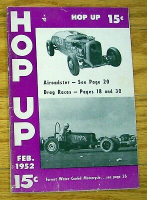 HOP UP - February 1952 - Hot Rods, Customs, Motorcycles, Racing, Boats