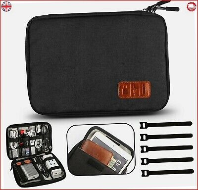 GiBot Cable Organiser Bag, Travel Electronics Accessories Bag Organiser for Cabl