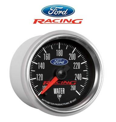 "Ford Racing M-10883-BFSE 880086 Light Up 2 1/16"" Water Temperature Gauge 100-260"