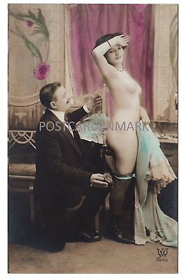 FRENCH NUDE, The Inspection! 4 Original Real Photo Postcards, COL, AW Paris 5593