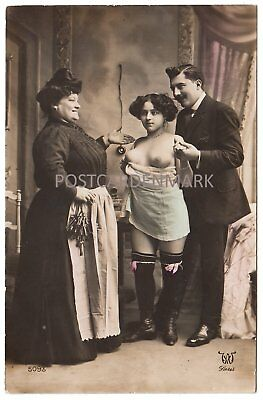 FRENCH NUDE, The Inspection! 5 Original Real Photo Postcards, COL, AW Paris 5093