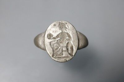 Ancient Interesting Roman Silver Ring 1st-3rd Century AD
