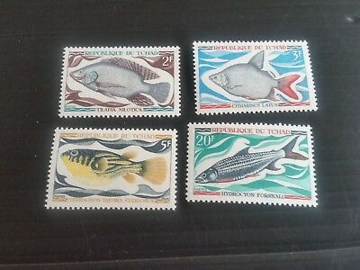 Chad 1969 Sg 290-293 Fishes Mh (M)