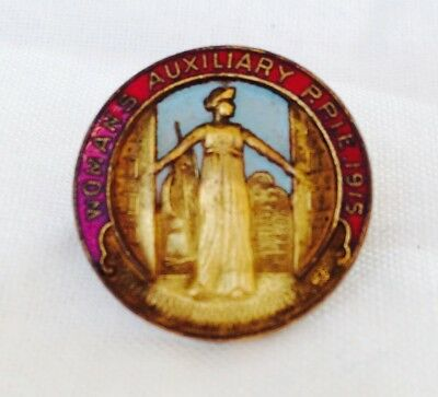 Original 1915 PPIE Womans Auxiliary lapel Pin SHREVE & CO San Francisco