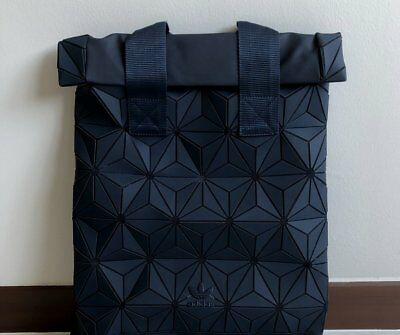 ADIDAS ORIGINALS 3D Roll Top Backpack Black Bnwt Issey