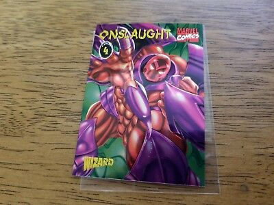 Marvel Onslaught #4 Promo Chromium Trading Card Wizard 1996