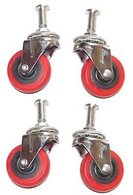 """4 Piece 2"""" Replacement Caster Wheel for Creeper Swivel  Chrome Plated Mechanic"""